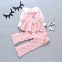 a1b43a47d1f6 good quality girls spring autumn new clothing sets children girls cotton princess  party clothes baby girls fashion birthday outfits