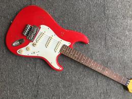 2019 elektrischer gitarrenkörper Custom Shop Handmade Michael Landau Unterschrift 1963 Heavy Relic ST E-Gitarre Fiesta Rot über 3-Ton Sunburst Alder Korpus Ahorn Hals günstig elektrischer gitarrenkörper