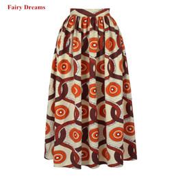 c4fe6539ab6 Africa Skirts Ankara African Clothes Women Spring Summer Autumn Fashion  Long Skirt 2019 New Style Pattern Print Kanga Clothing