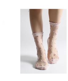 5 cores primavera e verão novas mulheres meias meias de renda meias femininas de seda legal do verão jacquard de verão de