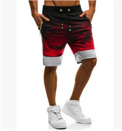 78bc49a6fa2 AU Men Casual Short Pants Gym Fitness Running Sports Wear Shorts Hommes  Jogger Pirnt Shorts Casual Summer Pants