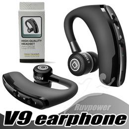 2019 universelle kabellose headset kopfhörer freisprecheinrichtung V9 Business Bluetooth Headset Drahtlose Kopfhörer Drahtlose Freisprecheinrichtung Kopfhörer Auto Bluetooth V4.1 Telefon Freisprecheinrichtung MIC Musik günstig universelle kabellose headset kopfhörer freisprecheinrichtung