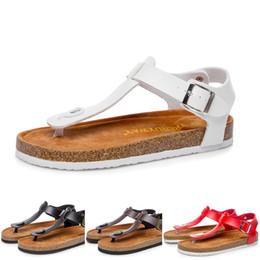 коричневые пробковые сандалии Скидка Летние сексуальные сандалии Мужчины Женщины Пара сандалий на плоской подошве Пробковые тапочки Повседневная пляжная обувь Черный Коричневый Бежевый цвета размер 36-43