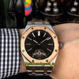 Argentina Alta calidad barata Serie real 26512ST.OO.1220ST.01 Tourbillon Dial negro Movimiento automático Reloj para hombre 316L Caja de acero Correa Relojes deportivos cheap cheap watch movement Suministro