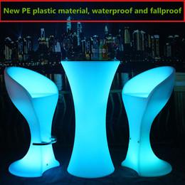 mesas altas Desconto 2019 LED Moda iluminado móveis bar recarregável high end cocktail mesa de D60 * café bar mesa de cocktail mesa H110cm