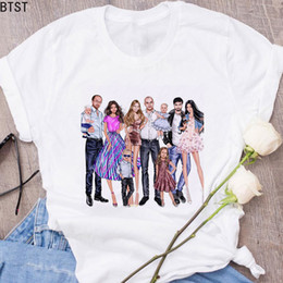 4e50f5d7f Happy family father mother daughter son vogue friends print korean style super  mom t shirt mom 100% cotton plus size summer tops