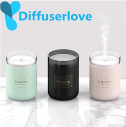 Óleos essenciais difusor vela on-line-Diffuserlove 280ml umidificador de ar Candle Romantic Soft Light USB Essential Oil Difusor Purifier USB Aroma Anion Névoa Criador