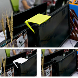 Monitor dobrável on-line-Multifunções computador de armazenamento Monitor de cremalheira Home Office desktop acabamento Shelf Plastic Folding Hanging Clip Holder Organizer