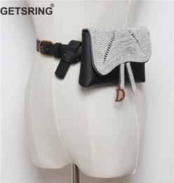 Diamantes de dinero online-GETSRING Bolso de mujer Bolsas de espera de mujer Paquete de cintura Cinturón de dinero Paquete de fanny Bolsos para mujer 2018 Nueva Moda de diamante negro Cinturón de dinero