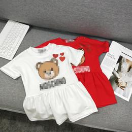 schicht tüll kleid weiße mädchen Rabatt Mädchen Ärmel legere Kleidung des Baby Baumwollkarikatur Kleid J190615