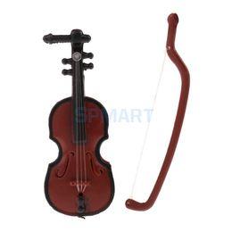 Jouets musicaux en plastique en Ligne-1/12 Maison de Poupées Miniature En Plastique Violon Instrument de Musique Modèle Chiffres Affichage Décor Chiffres Jouet Poupées Accessoire Enfants Cadeau