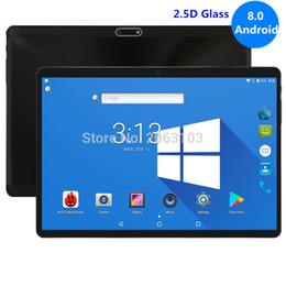 дешевые китайские таблетки, вызывающие wifi Скидка Топ закаленное 2.5D стекло 10-дюймовый планшет Android 8.0 Octa Core 4 ГБ ОЗУ 32 ГБ ПЗУ 8 ядер 1280 * 800 IPS Экран таблетки 10.1 + подарок