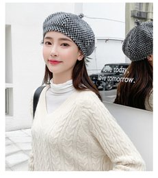 womens fashion beret Promo Codes - Designer Womens Berets Luxury Caps for Womens Autumn Winter Fitted Dome Brand Womens Hat Causal Fashion Cap with Elgant Styles High Quality