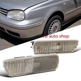 2019 un indicatore Un paio di Smoked Front Bumper Side Marker Light Per VW 99-05 Golf Jetta Mk4 Smoke Lens Colorato Side Marker Paraurti Luci Lampade sconti un indicatore