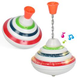 2019 elétrico piscando música brinquedo Hot Music Luz Giro Toy Spinning Top Toy 2019 Flash Top LED Giroscópio Para Crianças Presente de Aniversário Menino Clássico Elétrico brinquedos elétrico piscando música brinquedo barato