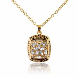 Vente chaude Sport Bijoux Dallas Cowboys Championnat Pendentifs Collier Cristal Star Bijoux Pour Hommes Femmes Fans Partie Cadeau ? partir de fabricateur