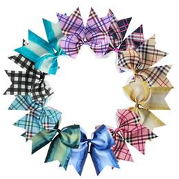 Pollice della fascia online-Cute Girls Lattice Headwear 8 pollici Baby Bandband Bambini Party Plaid Hairbands Bigc Accessori per capelli a coda di rondine