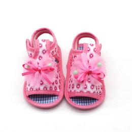 2019 детские сандалии Детские сандалии для малышей с мягкой подошвой Детская обувь Противоскользящие сандалии Prewalkers Bowknot Design Обувь для ходьбы для девочек дешево детские сандалии