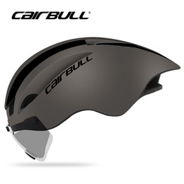 01a2ac868a8 2019 New Goggles Bicycle Helmets Cairbull WINGER II Upgrade Time Trial Lens  Helmet 56-61CM Adults Men Women In-Mold Helmets