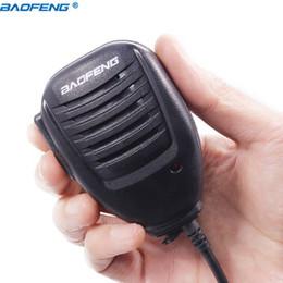 microfone falante walkie talkie Desconto walkie talkie Baofeng -5R -82 BF-888S PTT Talkie Walkie Speaker Mic Microfone de Mão Para Rádio Portátil Kenwood Pofung UV5R UV82 8W