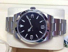 2019 39mm relojes deportivos Hombres de alta calidad de lujo Explorer 39mm Negro Baton Dial hombres Relojes mecánicos de hombres mecánicos 39mm relojes deportivos baratos