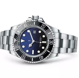 2019 montre résistant à l'eau froide Montre pour homme lunette en céramique profonde SEA-Dweller saphir acier Cystal avec fermoir à glissière automatique mécanique montres mens lumineux