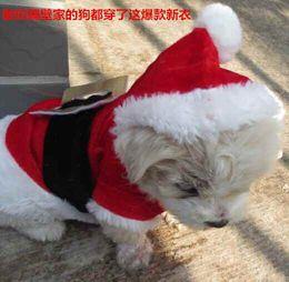 Ropa de perro pequeño xxs online-XXS perro pequeño ropa de Navidad para mascotas ropa con capucha ropa de lana traje lindo abrigo perro Cosplay Pet Party ropa para perro