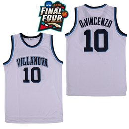 Mikal überbrückt trikot online-NCAA Villanova Wildcats # 10 Donte DiVincenzo 25 Mikal Bridges 1 Jalen Brunson weiß Navy 2019 Final Four College Basketball Jerseys genähtes
