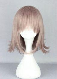 cheveux humains arc-en-ciel Promotion Perruque Cosplay Costume Danganronpa Dangan-Ronpa Chiaki Nanami Taro Cosplay Perruque Gratuite