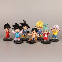Super saiyan 11 online-Dragon Ball 12 CM SH Figuarts Super Saiyan Sohn Goku Vegetto Vegeta Trunks 8 CM PVC Action-figuren Dragon Ball Z Sammlung Modell Puppen Spielzeug