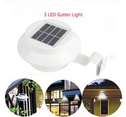 clôture solaire gouttière led Promotion Gouttière Solaire LED Lumières Sécurité Solaire 3 LED Clôture Lumière Extérieure Sans Fil Applique Murale
