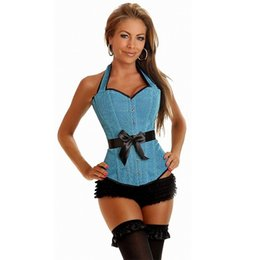 Корсетные кружева онлайн-Corset tight lacing purple corset waist Trainer corsets gothic clothing overbust corpetes e espartilhos para festa