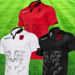 2019 Albania camiseta color rojo 19 20 Albania White Camisetas de fútbol Negro Camisetas de manga corta camiseta nacional Camisetas de fútbol Uniforme de Albania desde fabricantes
