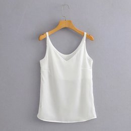Coreano moda japonesa camiseta on-line-E4TY-2123 Japanese and Korean women's wear 2020 Summer new slim t-shirt vest fit Design Bright Face vest T-shirt
