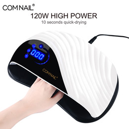 2020 cura elétrica Secagem Nail Polish lâmpada 120W poderoso Electric Nail secador For All Gel Verniz Professional Curing Light Lamp Art cura elétrica barato