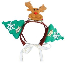 Fascia del cane online-Pet Dogs Accessori Natale Elk Snowman Head Band Decorazioni Dog Crown Cappello Cappello Cappello Natale Pet Pet Accessori per capelli DH0230