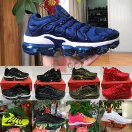 Corridori blu royal online-Nike Air Vapormax Tn Big Size 13 Eur 36-47 Mens Sneakers Tn Inoltre All Black triple bianco Royal blu traspirante Outdoor Sports Running Shoes Womens Runner Trainer vapors