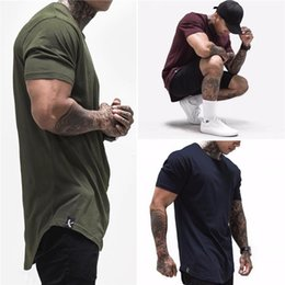 fester sitz hemd männer Rabatt 2020 New Cotton T-Shirt Männer atmungsaktiv T-Shirt Homme Gyms Shirt Männer Fitness Summer Fashion Gyms enge Tops