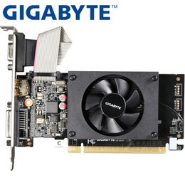 Гигабайтная карточка онлайн-Gigabyte Graphics Card GT710 1 ГБ 64 бит GDDR3 Видеокарты для NVIDIA VGA GeForce Original GT 710 Игра HDMI DVI