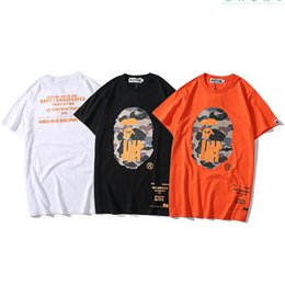 Kurzarm-shirt männer orange online-Bape Stylist-T-Shirt Bape Herren Stylist Short Sleeve Undefeated Männer Frauen Hip Hop Tees M-2XL