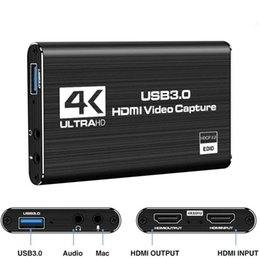 Usb-карта hdmi онлайн-4K HDMI TO USB 3.0 Video Capture Card, Full HD Video Recorder Video Game Grabber конвертер для захвата Game Capture Card Онлайн