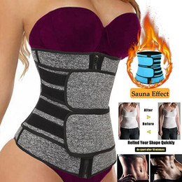 Sauna abnehmen bauch online-Günstige Taille Trainer Frauen Abnehmen Mantel Bauch Reduzieren Shapewear Bauch Shaper Sweat Body Shaper Sauna Korsett Workout Trimmer Gürtel