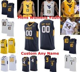 Chase Harler West Virginia Basketball Jersey - Navy