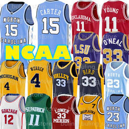 2020 north carolina jersey NCAA Russell Westbrook 0 Larry 33 Uccello maglie John Stockton 12 Chris Webber 4 UCLA Trae Robinson giovane Allen North Carolina Lower Merion sconti north carolina jersey