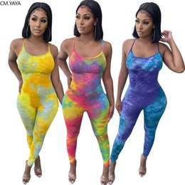 Halter romper traseira aberta on-line-Women Jumpsuits Sexy Beach Club Party Halter Open Back Skinny Bodycon Jumpsuit One Piece Romper Overalls