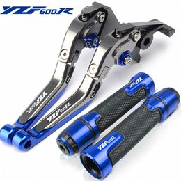 Alavanca de embreagem ajustável on-line-YZF 600R Motorcycle Adjustable Handle Brake Clutch Lever apertos de mão PARA YZF600R thundercat 1994 1995-2005 2004 2003 TBQV #