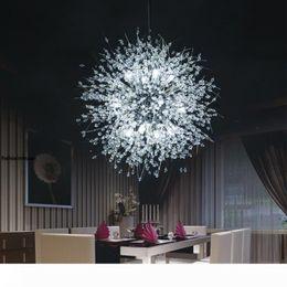 Modern Dandelion LED Ceiling Light Crystal Chandeliers Lighting Globe Ball Pendant Lamp For Dining Room Bedroom Living Room Lighting Fixture Outdoor