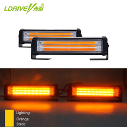 barra de luz led drl Rebajas 2 * Rojo Amarillo Azul Naranja camiones coche LED COB flash estroboscópico intermitente de advertencia Luz de rejilla / DRL de emergencia de conducción Light Bar