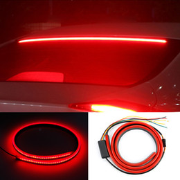 Lâmpada led super fluxo on-line-Super Bright Red cauda de fluxo intermitente Car terceira luz de freio LED traseira Aviso Monte Alto Parar Lamp 12V Safety Signal