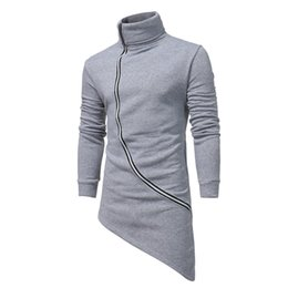 Schwarzer umhang hoodie online-Männer Kapuzenjacke Schwarz-Kleid beste Qualität Hip Hop Hoodie Zipper Sweatshirts lange Ärmel Mantel Mäntel Outwear Man Mode